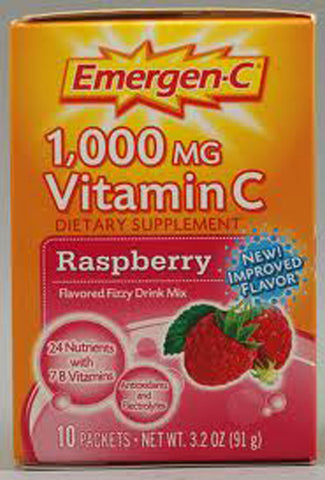 Alacer Corp - Emergen-C Raspberry - 10 Packets