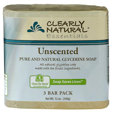 CLEARLY NATURAL - Glycerine Bar Soaps Unscented Pack