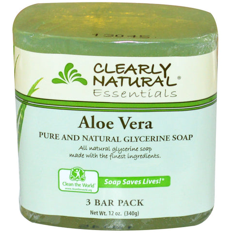 CLEARLY NATURAL - Glycerine Bar Soaps Aloe Vera