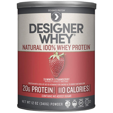 DESIGNER WHEY - 100% Premium Whey Protein Powder, Summer Strawberry