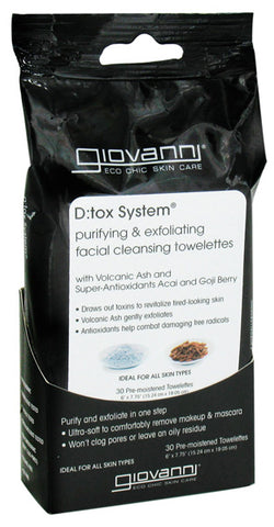 GIOVANNI COSMETICS - D:tox Facial Cleansing Towelettes