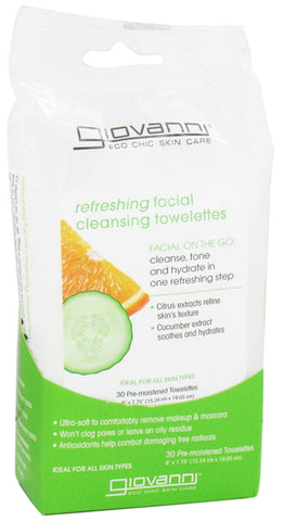 GIOVANNI COSMETICS - Facial Cleansing Towelettes Citrus & Cucumber