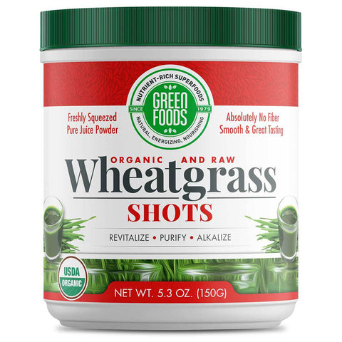 GREEN FOODS - Organic and Raw Wheat Grass Shots