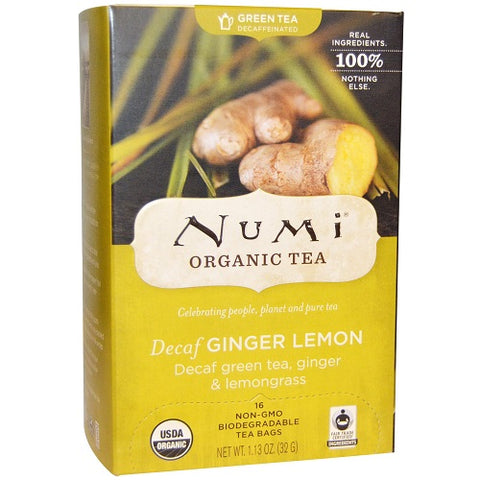 Numi Tea Decaf Ginger Lemon Green Tea