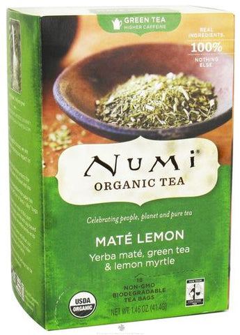 Numi Tea Mate Lemon Green Tea