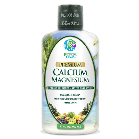TROPICAL OASIS - Premium Liquid Calcium with Magnesium & Vitamin D