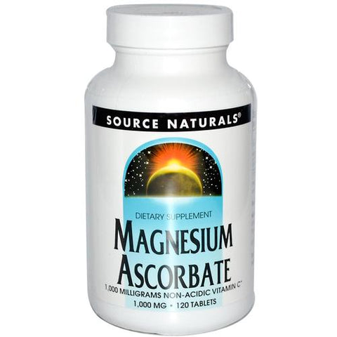 Source Naturals Magnesium Ascorbate - 120 Tablets (1,000 mg)