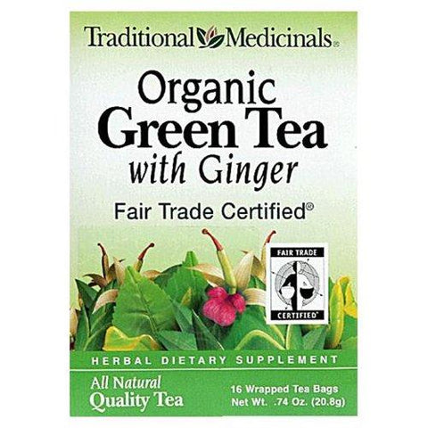 Traditional Medicinal Organic Green Tea with Ginger
