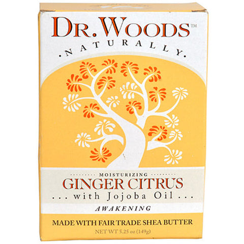 DR. WOODS - Ginger Citrus Bar Soap with Jojoba Oil & Organic Shea Butter