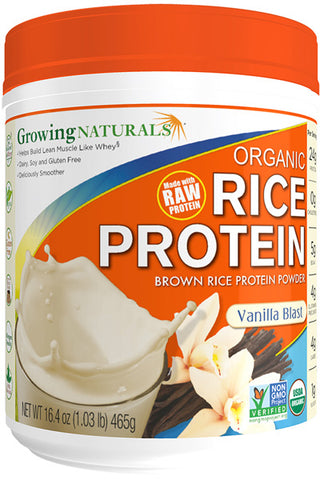 Growing Naturals - Organic Rice Protein, Vanilla Blast
