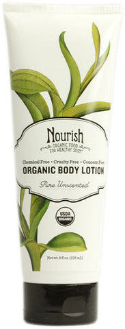Nourish - Pure Unscented Organic Body Lotion 8 Ounces