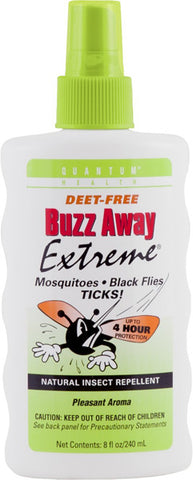 Quantum Research - Quantum Buzzaway Insect Repellent Products Extreme Spray - 8 Oz, Pack Of 3