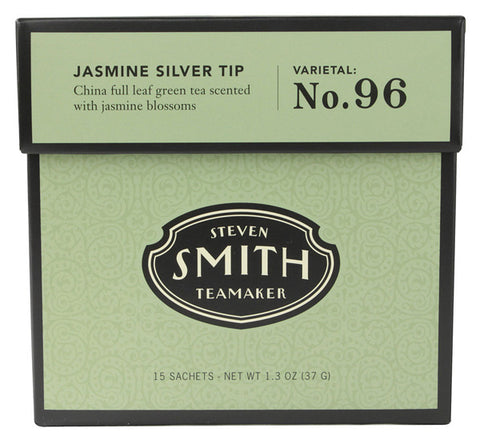 Smith Teamaker - Steven  - Full Leaf Green Tea Jasmine Silver Tip No. 96 - 15 Tea Bags