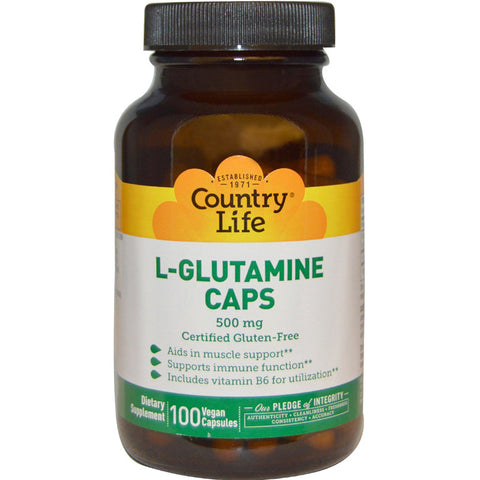 COUNTRY LIFE - L-Glutamine Caps 500 mg with B-6