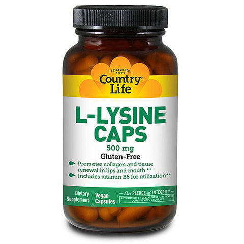 COUNTRY LIFE - L-Lysine 500 mg with B-6