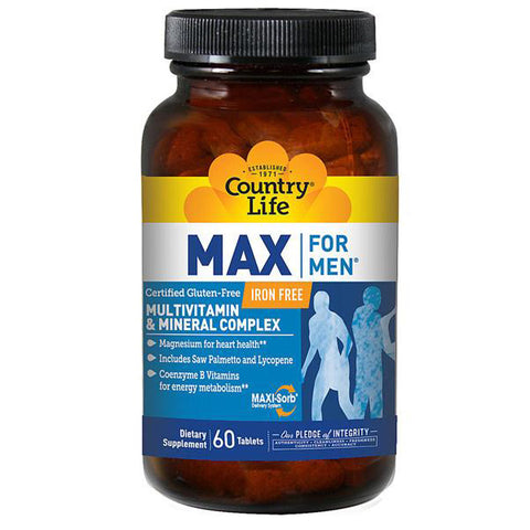 COUNTRY LIFE - Max for Men Multivitamin and Mineral