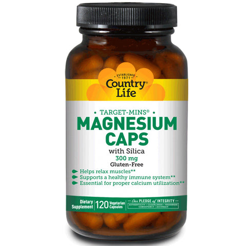 COUNTRY LIFE - Target-Mins Magnesium Caps with Silica 300 mg