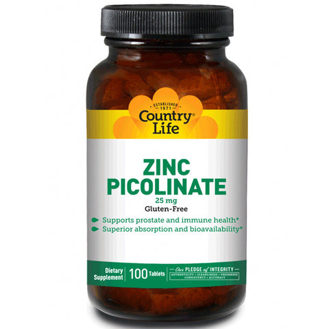 COUNTRY LIFE - Zinc Picolinate 25 mg