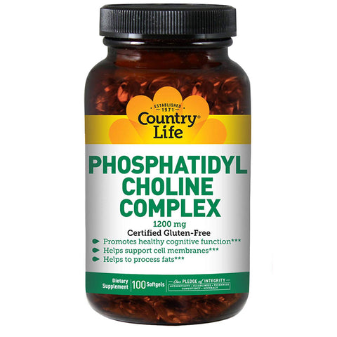 COUNTRY LIFE - Phosphatidyl Choline Complex 1200 mg