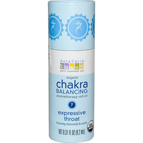 AURA CACIA - Organic Chakra Balancing Roll-On, Expressive Throat