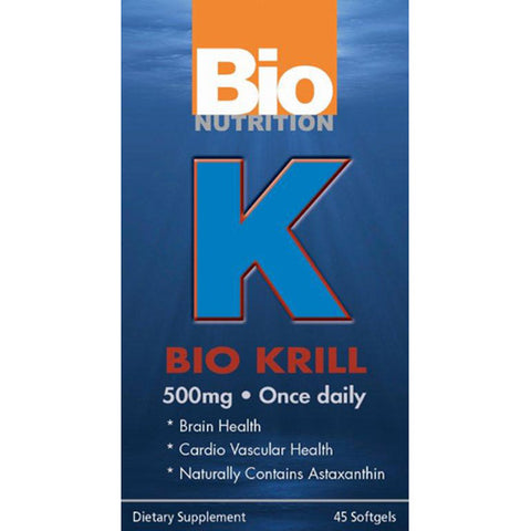 Bio Nutrition - K Bio Krill 500 mg - 45 Softgels