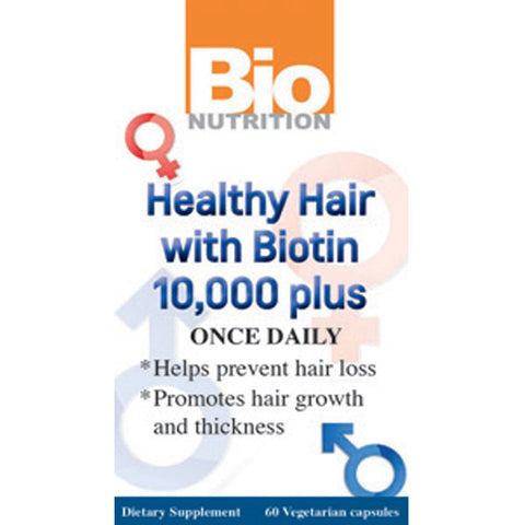 Bio Nutrition - Healthy Hair with Biotin - 60 Vegetarian Capsules