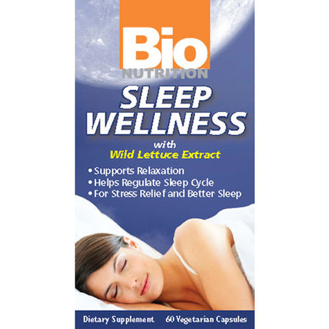 Bio Nutrition - Sleep Wellness with Wild Lettuce Extract - 60 Vegetarian Capsules
