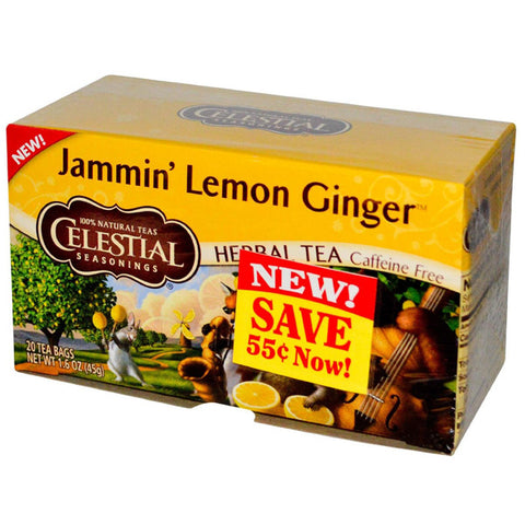 Celestial Seasonings - Jammin Lemon Ginger Herbal Tea