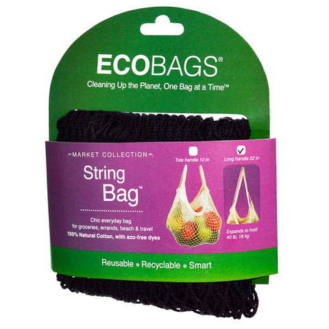 ECO-BAGS - Long Handle Classic String Bag Black