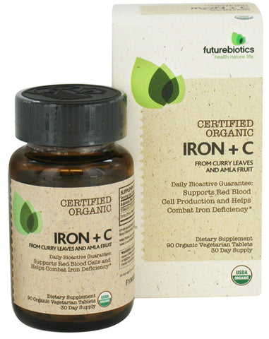 Futurebiotics - Certified Organic IRON + C - 90 Tablets