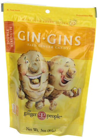 Ginger People - Gin Gins Double Strength Hard Ginger Candy
