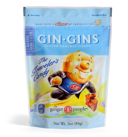 Ginger People - Gin Gins Super Strength Ginger Caramel Candy