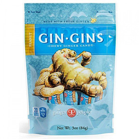 Ginger People - Gin Gins Peanut Chewy Ginger Candy