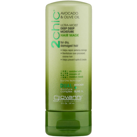 Giovanni Cosmetics - 2Chic Ultra-Moist Hair Mask Avocado and Olive Oil - 5 fl. oz. (147 ml)