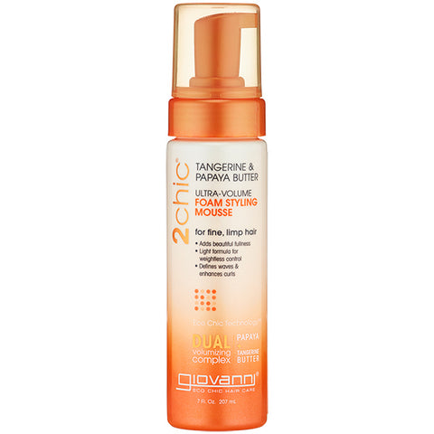 Giovanni Cosmetics - 2Chic Ultra Volume Foam Styling Mousse - 7 fl. oz. (207 ml)