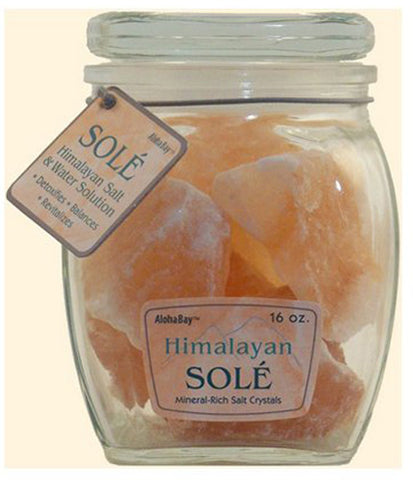 Himalayan Salt - Sole Salt Chunks in Jar - 16 oz.