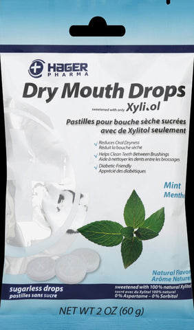 Miradent - Dry Mouth Drops Mint - 2 oz. (60 g)