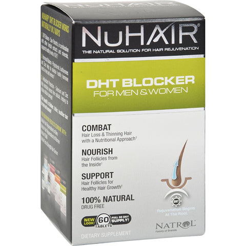 NuHair - DHT Blocker Hair Regrowth Support Formula - 60 Tablets