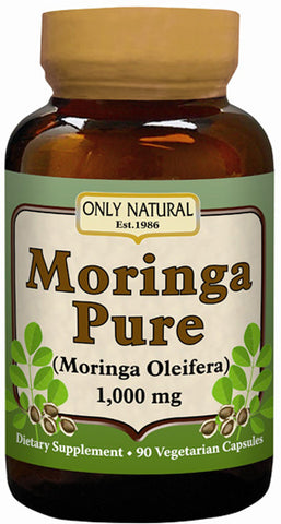 Only Natural - Moringa Pure 1000 mg - 90 Vegetarian Capsules