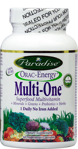 Paradise Herbs - Orac-Energy Multi-One No Iron - 60 Vegetarian Capsules