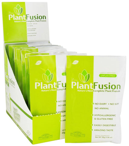 PlantFusion - Plant Protein Unflavored - 12 x 1.06 oz. Packets