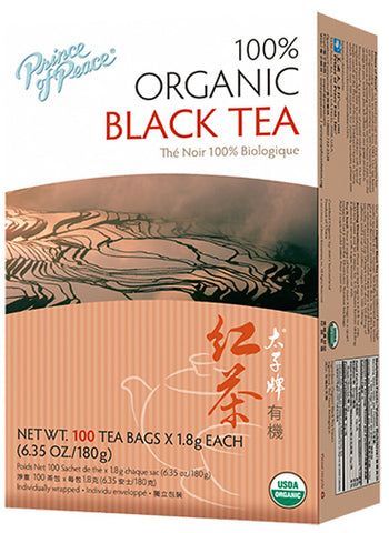 Prince Of Peace - Organic Black Tea - 100 x 2 g Tea Bags