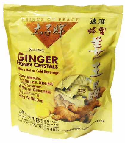 Prince Of Peace -  Instant Ginger Honey Crystals - 30 Packets (18.9 oz.)