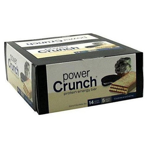 Power Crunch - Protein Energy Bar Cookies & Cream - 12 x 1.4 oz. Cookies
