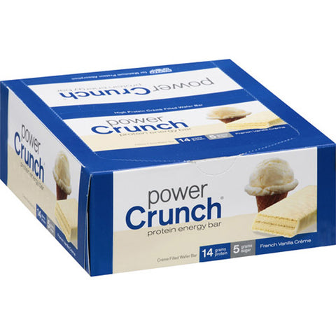 Power Crunch - Protein Energy Bar French Vanilla Cream - 12 x 1.4 oz. Cookies