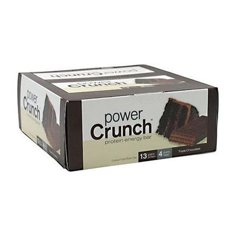 Power Crunch - Protein Energy Bar Triple Chocolate - 12 x 1.4 oz. Cookies