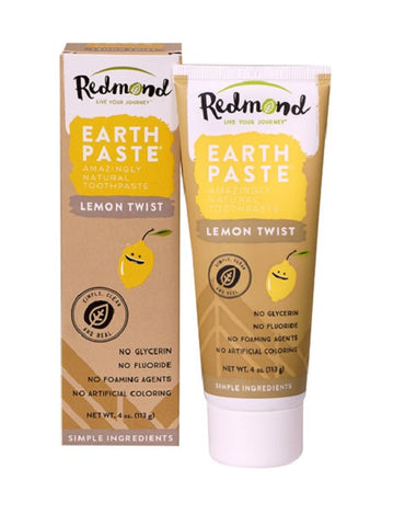 REDMOND REALSALT - EarthPaste Lemon Twist Natural Toothpaste