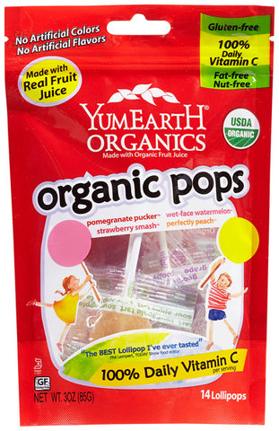 Yummy Earth - Organic Lollipops Fruit Flavors - 3 oz. (85 g)