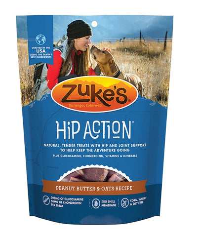 Zukes - Hip Action Dog Treats Peanut Butter & Oats Recipe