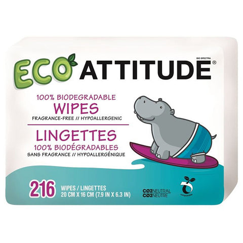 ATTITUDE - Eco Baby Wipes Tripack